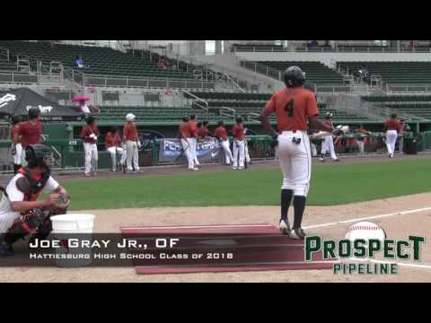 Joe Gray Jr , Prospect Video, OF, Hattiesburg High School Class of 2018
