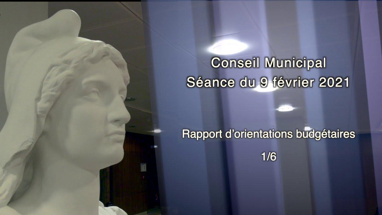 Conseil municipal du 9 FÉVRIER 2021 - Partie V-1 : rapport d'orientations budgétaires
