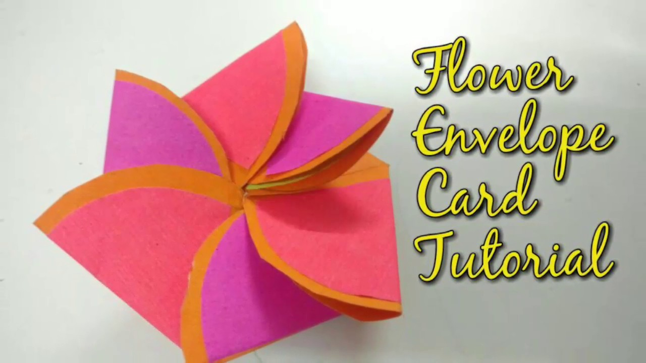 Paper Flower Envelope Card Tutorial For Scrapbook How To