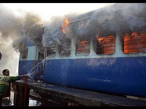 India: Fire in railway coach near Ambala Cantt station