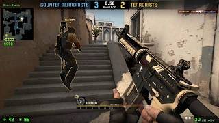 Counter-strike Global Offensive DOD and Company Come From Behind on Dust II to Tie Game