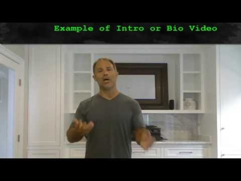 Example of a BIO or Plans intro video