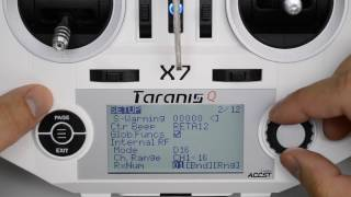 taranis q x7 tutorial first flight setup minimum