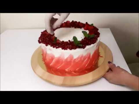Как сделать на торте мазки из крема 90