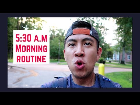 College Morning Routine: Babson College