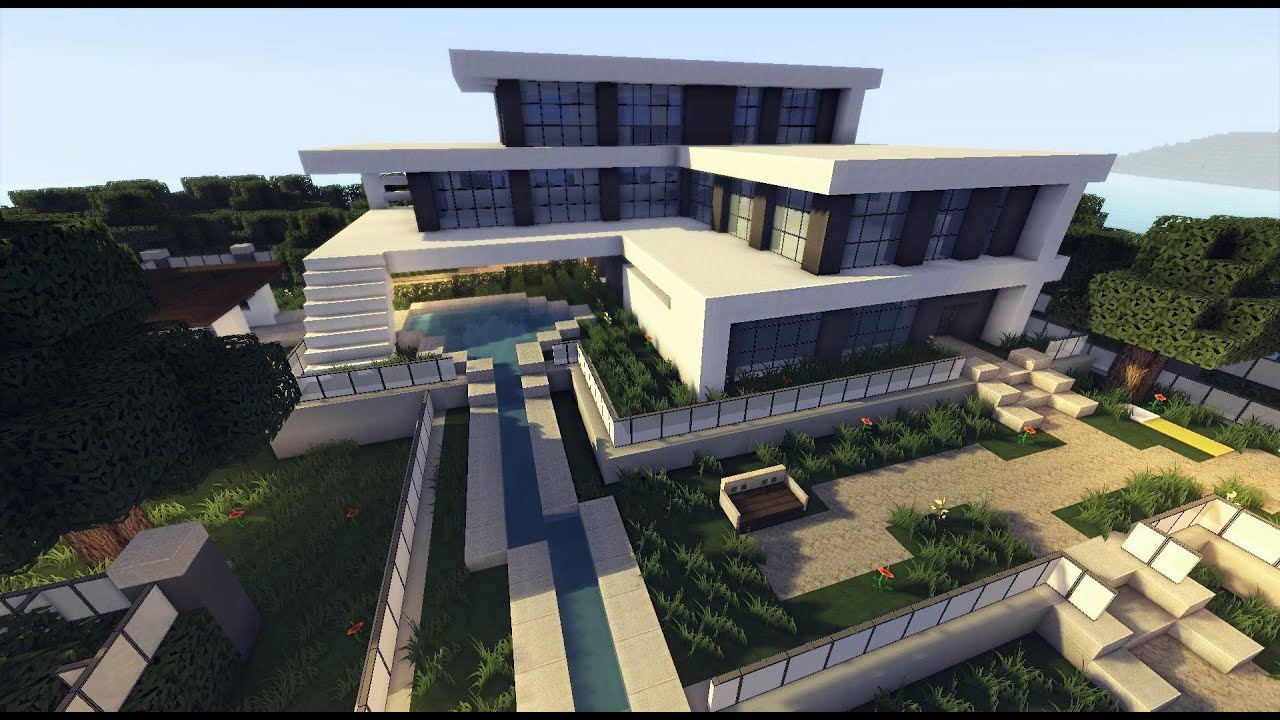 Minecraft how to build a modern house best modern house for How to build a modern home