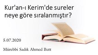 Kur'an-ı Kerim'de sureler neye göre sıralanmıştır?