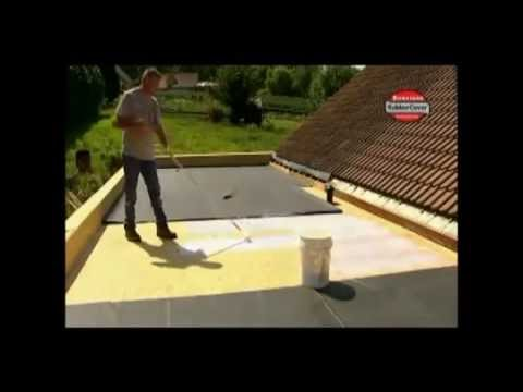Firestone Epdm Rubber Roofing Installation On A Flat Roof