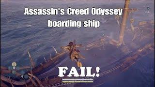 Assassin's Creed Odyssey - Boarding ship FAIL!