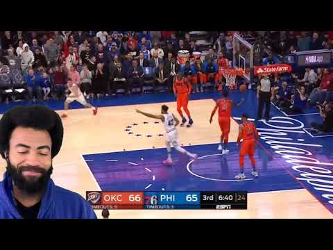 Oklahoma City thunder vs Philadelphia 76ers 1-19-2019. My reaction and thoughts