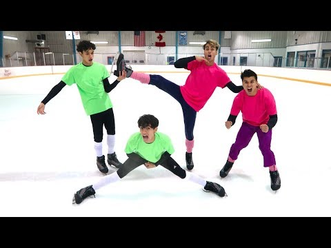 Thumbnail: FUNNY ICE SKATING COMPETITION!