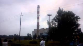 Wysadzenie komina w Elektrowni Halemba