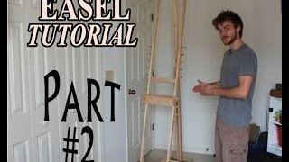 Video tutorial on how to make a do it yourself adjustable art easel for cheap. Estimated cost 35 - 50$ A great price for a standing