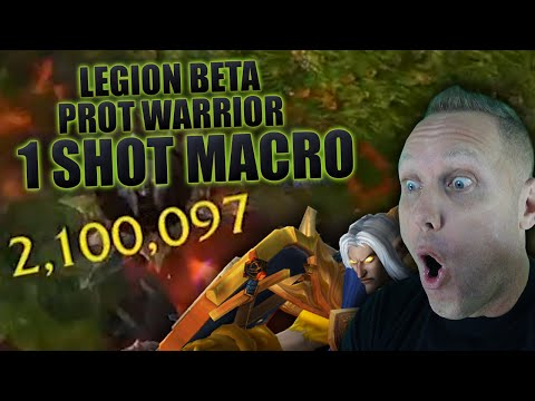 Swifty's Prot Warrior 1 Shot Macro in WoW Legion Beta