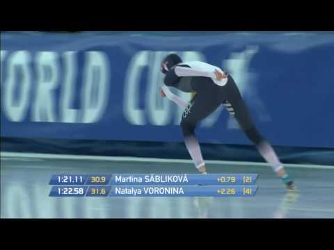 Martina Sablikova  3000m - 4.00,08 (TR). World Cup 5 Stavanger 2015/2016