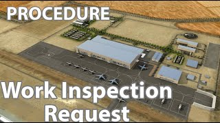 Quality Procedure of Work Inspection Request