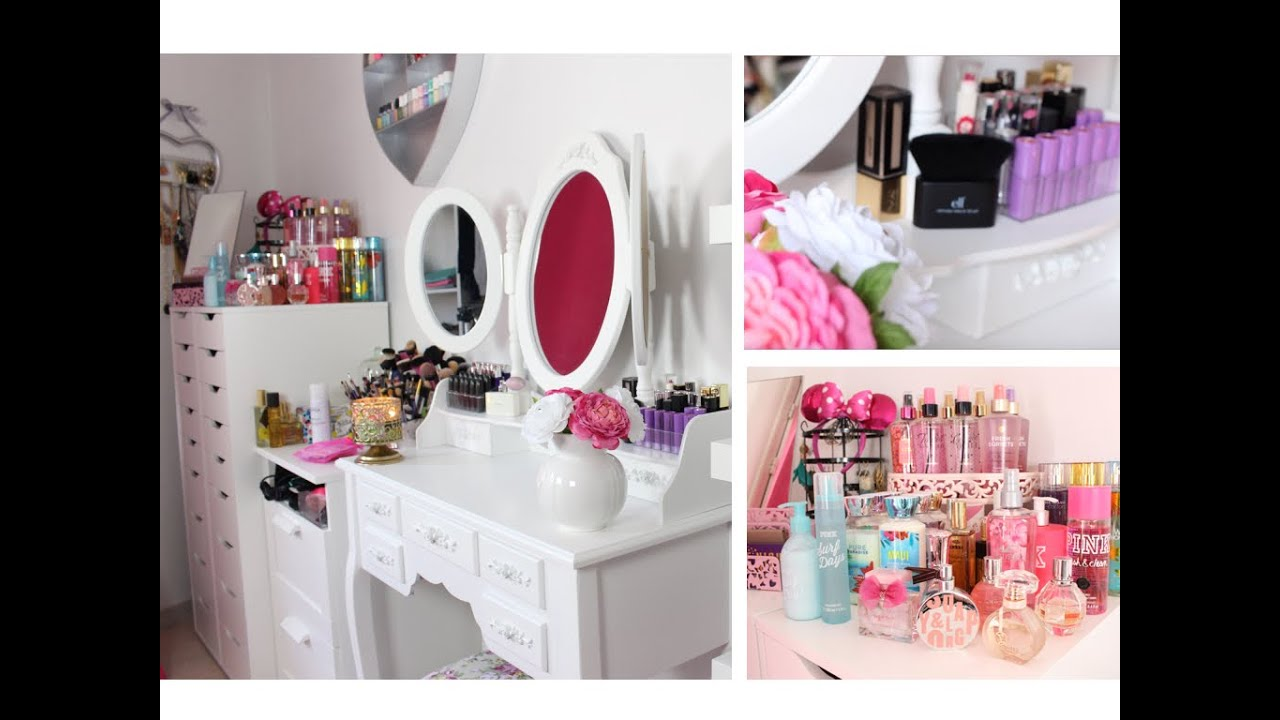 Rangement maquillage make up storage no miemakeuptouch for Miroir youtubeuse