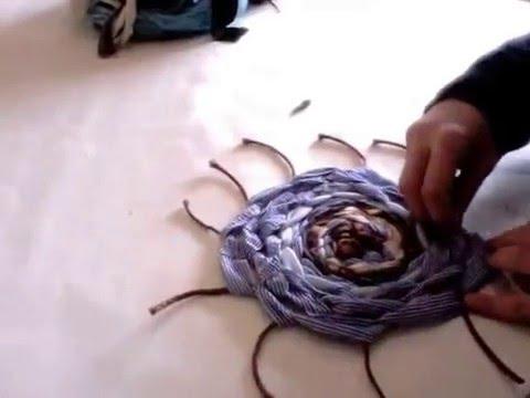 Tappeti In Tessuto Riciclato : Creare un tappeto intrecciato con tessuti riciclati malice s