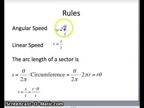 Angular Speed Linear Speed - YouTube