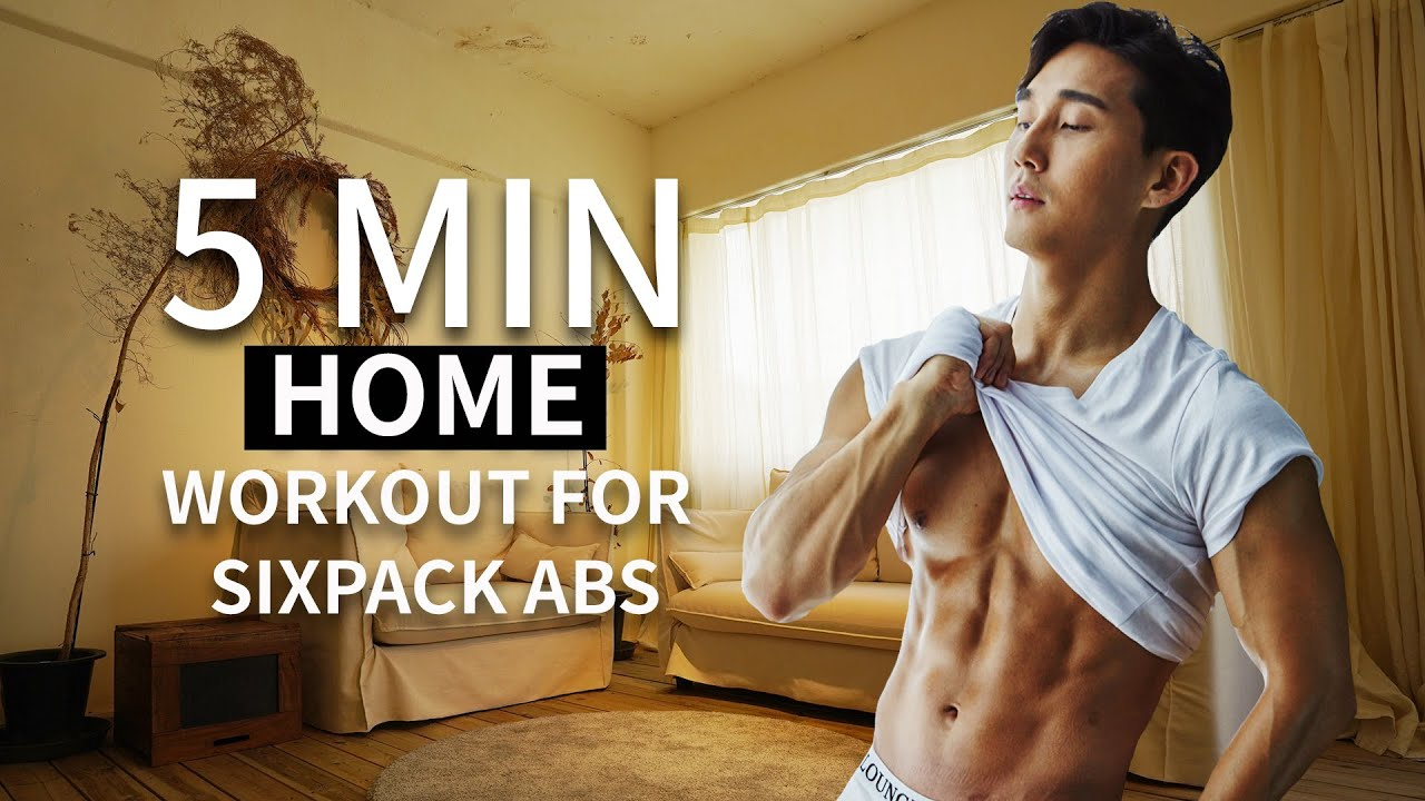 5 MIN HOME WORKOUT FOR SIXPACK ABS  l  5분 식스팩 복근 운동 (홈트레이닝)