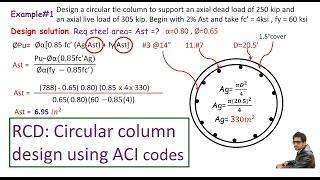 RCD:- Circular concrete column design / ACI