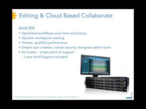 2) Acquisition Editing Cloud-based Workflows - Digistor Post-NAB 2013 Webinar