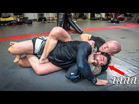 250lb Strongman VS BJJ Black Belt (BAD IDEA!!)