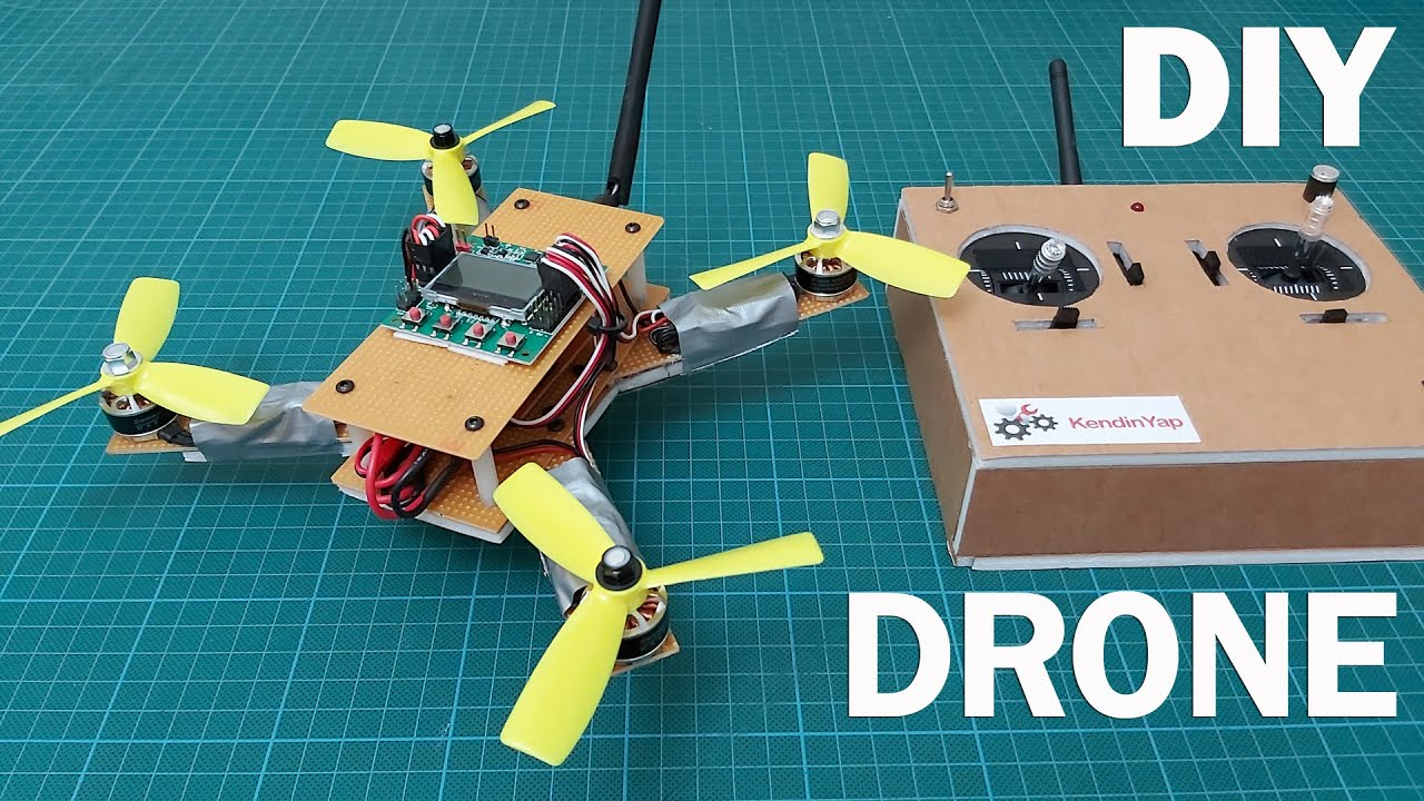 How To Make Drone With Hand-made Radio Control. DIY Drone