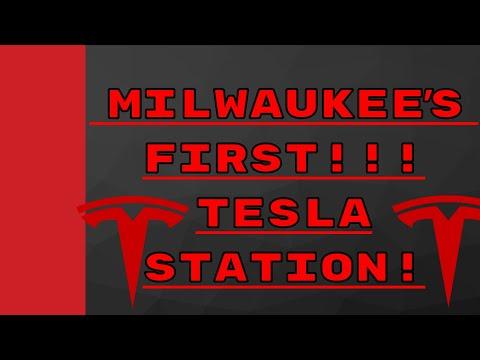 Milwaukee Wisconsins New Tesla Supercharger (Oak Creek, WI Drexel Towne Square)
