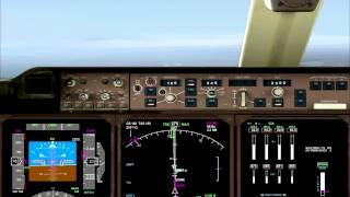 FS2004 PMDG B747 approach and landing in Varna