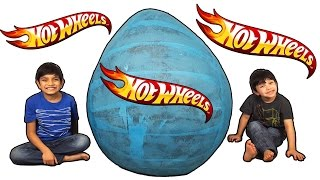 Gambar cover 😀 Hot Wheels 🏎 Blue Giant Toys Surprise Egg Opening Review Adventure for Kids