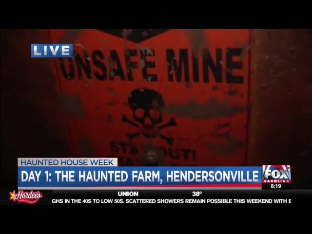 The Haunted Farm 2018 | Billy Tate meets Joe Gagnon on Fox Carolina News LIVE