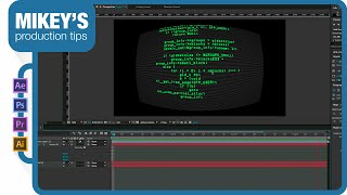 Scrolling hacker text for FUI in After Effects