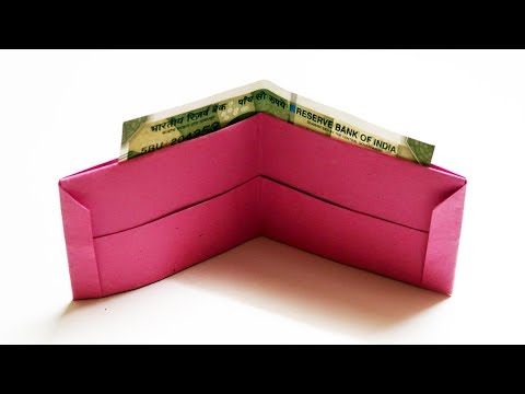 How to make a Paper Wallet | Origami Wallet Easy Tutorial