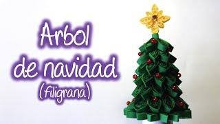 Arbol de Navidad de Filigrana , Quilling Christmas tree