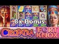 CLEOPATRA FORT KNOX Slot Machine - Live Play - Fort Knox Features and BIG WIN BONUSES - IGT Pokies