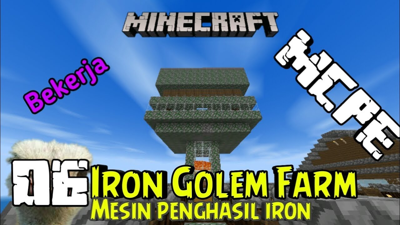 how to make a minecraft iron golem farm