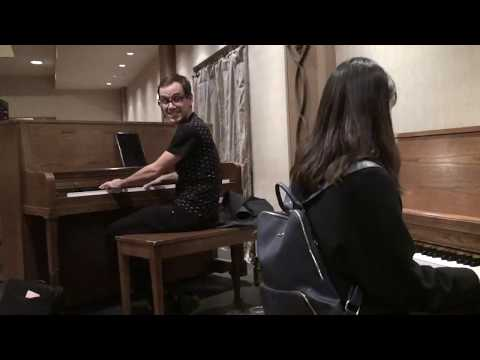 Jimin Park & Kylan deGhetaldi play I'm Gonna Sit Right Down by Fats Waller