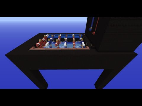 Foosball in Minecraft
