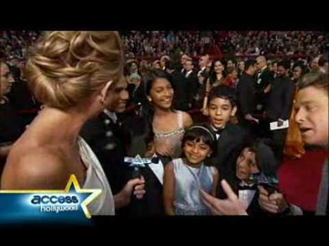 """""""Slumdog Millionaire"""" Kids Talk At The Oscars"""