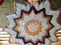 Ripple star blanket/ Spectrum Afghan / ripple round blanket Crochet tutorial in English
