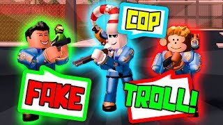 FAKE COP TROLLING IN ROBLOX JAILBREAK 2!!