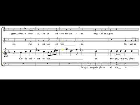 tenor - Le chant des oiseaux Janequin - tutorial - scrolling score