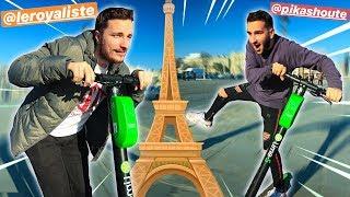 COURSE DE TROTTINETTE ÉLECTRIQUE DANS PARIS ! Ft L...
