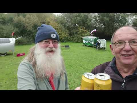 Fahrrad Wohnwagen Treffen mit dem Weihnachtsmann Gero Bicycle caravan metting with Santa Claus Gero thumbnail