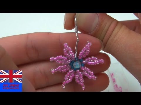 DIY Beads Flower Earring Tutorial: How To Make A Flower Earring Using Beads? Simple Trick