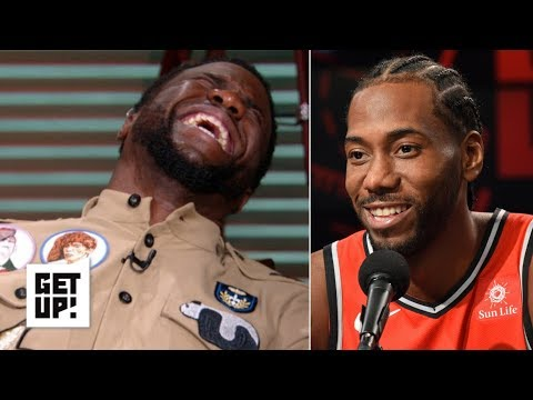 Kevin Hart reacts to Kawhi Leonard\'s laugh | Get Up!