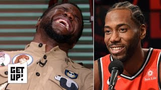 Download Kevin Hart reacts to Kawhi Leonard's laugh | Get Up! Mp3 and Videos