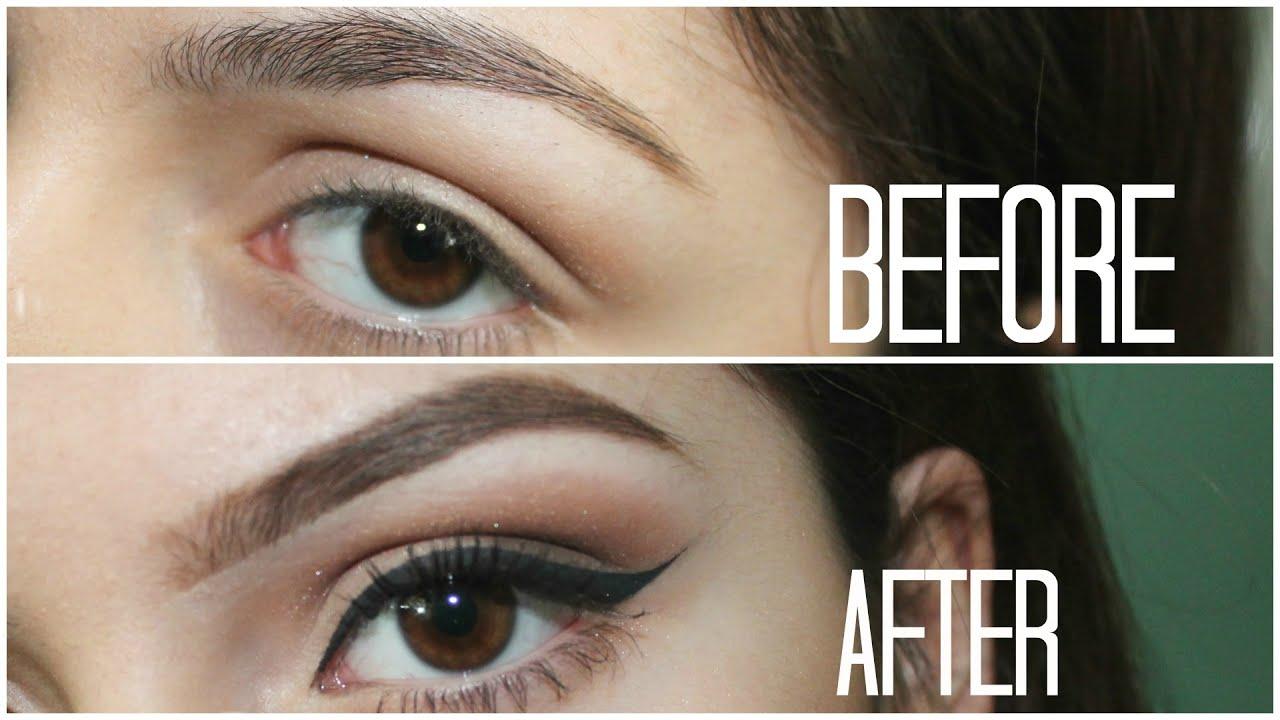 How To Eyeliner Eyebrows Youtube