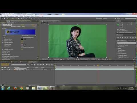 After Effects Tutorials - CHROMA KEYING with Primatte Keyer (3rd Party Plug in for After Effects)